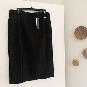 NWT Tahari pull on midi black skirt